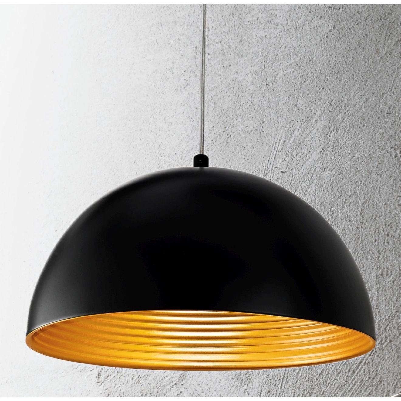 dingle pendelleuchte schwarz gold von fabas luce. Black Bedroom Furniture Sets. Home Design Ideas