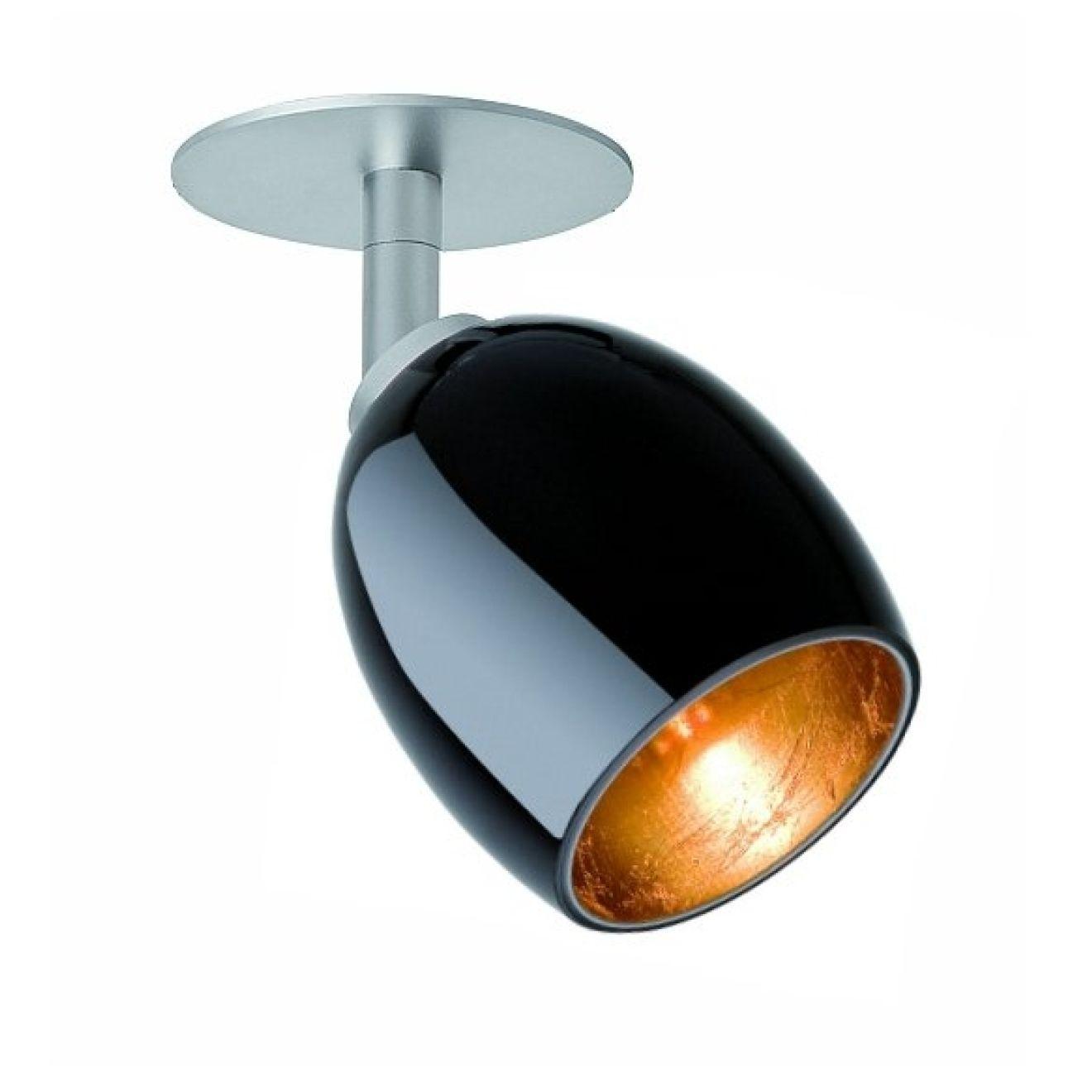 strahler spot naples silber glas schwarz gold mit einbauplatte. Black Bedroom Furniture Sets. Home Design Ideas