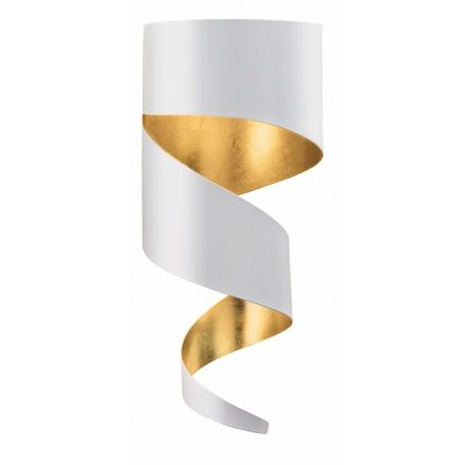 wandleuchte remi 1 flammig wei gold. Black Bedroom Furniture Sets. Home Design Ideas
